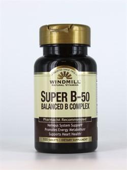 Super B-50 Balanced B Complex (100 tab) - фото 6119