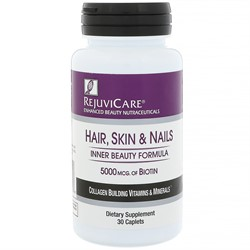Rejuvicare Hair, Skin & Nails, Biotin 5000 mg (30 tab) - фото 6150