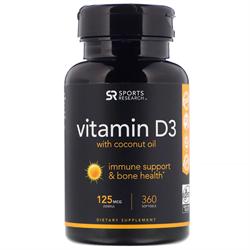 Vitamin D 3 125 mcg (30 softgels) - фото 6590
