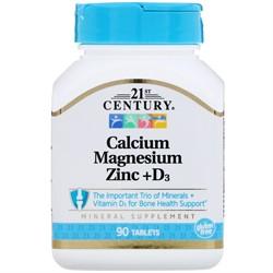 Calcium Magnesium Zinc+D3 (90 tab) - фото 6656