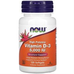 Vitamin D-3 5000 IU (120 softgels) - фото 6742