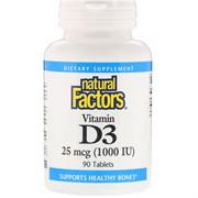 Vitamin D 3 1000 IU (90 tab)