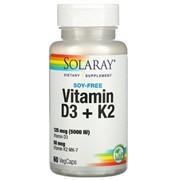 Vitamin D 3 + K 2 (60 caps)